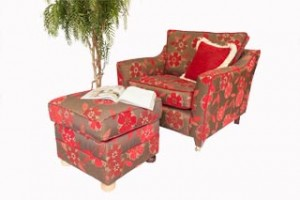 armchair and footstool