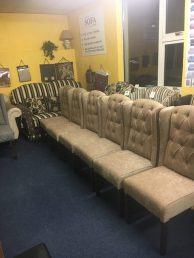 upholstered wing chairs