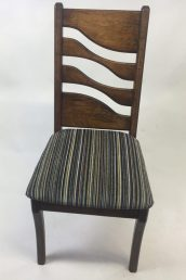 dining chair with cut out back