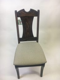 dining chair with dark notched back