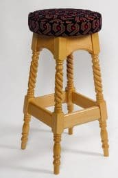 high stool with turned legs