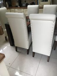 off-white dining chairs