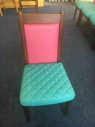 pink and green chair
